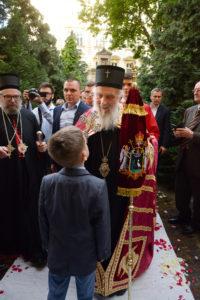 Патријарх српски господин Иринеј свечано дочекан у Будимпешти
