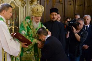 Патријарх српски г. Иринеј богослужио у Сентандреји